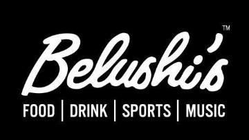 Beds & Bars and Belushi's logo